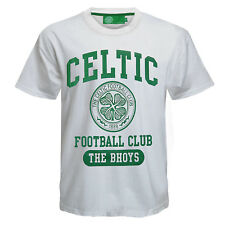 Celtic FC Official Football Gift Boys Graphic T-Shirt White
