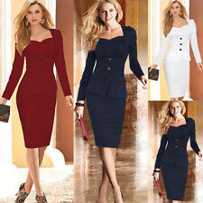 VINTAGE FASHION SEXY WOMAN BODYCON BANDAGE BUSINESS PARTY EVENING PENCIL DRESS