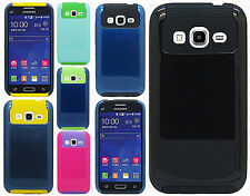For Samsung Galaxy Prevail LTE NEST HYBRID HARD Case Rubber Phone Cover
