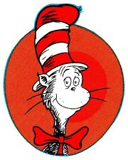 """3""""-6"""" Dr seuss cat hat bow heat transfer iron on character"""