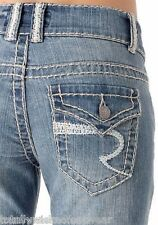 Revolt Heavy Stitch Twisted Flare Jean Light Wash 19 x  37 Tall Flap Pocket Long