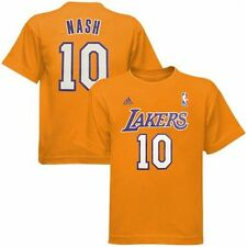 Los Angeles Lakers Steve Nash Yellow Gold Name and Number T-Shirt