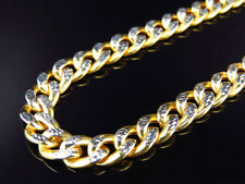 "New Mens Genuine 10K Yellow Gold Hollow Cable Link Chain Necklace 8MM 26""-38"""