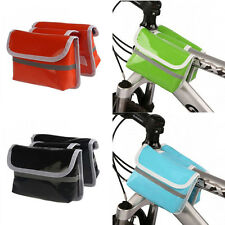 Outdoor Cycling Bike Bicycle Frame Pannier Front Tube Bag Double Bags Lash Pack