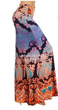 FOLD OVER WAIST WIDE LEG TURQUOISE FLORAL TIEDYE SEXY YOGA PALAZZO PANTS S/M/L