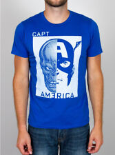 Mens Junk Food Marvel Comics Captain America T-Shirt in Liberty Blue