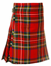 Great Gift: Boy's Kids Deluxe Polyviscose Kilt Stewart Royal Tartan NEW!