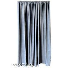 Gray Velvet 20 ft H Curtain Extra Long Panel Convention Room Partition/Divider