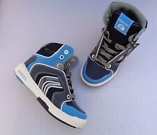 "NEW GEOX ""REX"" HI TRAINER CASUAL SHOE BOOTS. NAVY/LIGHT BLUE SIZE 11.5/13/2.5/4."