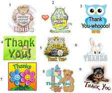 """50 Thank You! Envelope Seals / Labels / Stickers, 1"""""""