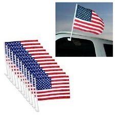 U.S. American Clip On Car Window Flags - Priced/Dozen - Quantity Discounts