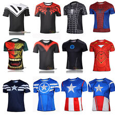 Marvel Costume Casual Men's Short Sleeve T-shirt Cycling Jersey Tees Shirts Tops