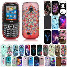 For Verizon LG Cosmos 3 VN251S Cosmos 2 VN251 Chevron Snap On HARD Case Cover