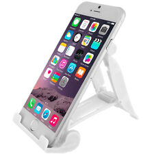 White Heavy Duty Plastic Hard Cell Phone Tablet Stand Mount Holder Universal