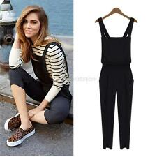 Lady Womens Summer Jumpsuit Romper Overall Pants Tredny Strap Pants S/M/L G53
