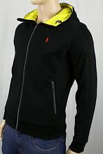 Ralph Lauren Black Yellow Hoodie Full Zip Sweatshirt Red Pony NWT