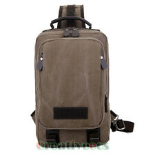 Men Canvas Travel Hiking Sling Back pack Messenger Shoulder Cross Body Chest Bag