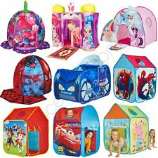 CHILDRENS CHARACTER POP UP PLAY TENTS WENDY HOUSES INDOOR OR OUTDOOR ACTIVE PLAY