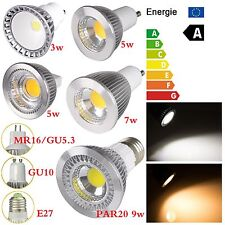 E27 3W 9W COB LED Halogen Light Bulb Floodlight Spot Bulb Indoor/Outdoor 86-265V