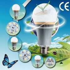 New E27 Energy Saving LED Bulb Light Lamp 3W 9W 15W 21W 27W Cool/Warm White