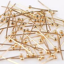 1000/5000pcs KC Golden Plated Charms Copper Ball Head Pins Findings Mixed Sizes