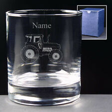 PERSONALISED ENGRAVED TRACTOR WHISKY JUICE GLASS TUMBLER 10oz, Hi-Ball NEW