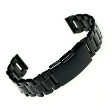 Stainless Steel Bracelet Watch Band Strap Straight End Solid Links