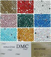 DMC ss16 / 4mm Iron On Hot Fix Rhinestones in Varies Colours and Varies Lots