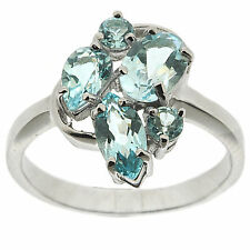 ..925 Sterling Silver 2.41 ct Natural Sky Blue Topaz Ring