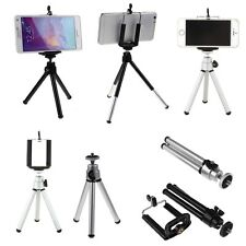 360° Rotatable Metal Stand Tripod Mount + Phone Holder for iPhone Samsung iPod