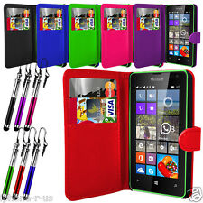 6 Colour Leather Stand Wallet Flip Phone Case Cover For Microsoft Lumia 435
