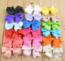 New Lot 5-100Ps Girl Baby Hair Bow Boutique HairPin Stick Flower Ribbon Headband