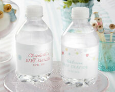 24 Personalized Cute As A Button Water Bottle Labels Baby Shower Favors