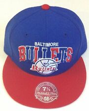 NBA Baltimore Bullets Throwback Mitchell and Ness Fitted Vintage Cap Hat NEW M&N
