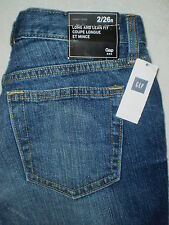 Gap Long and Lean Slim Fit Mid Rise Flare Leg Womens Denim Blue Jeans New $60