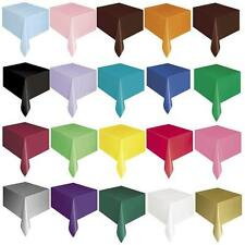 PLASTIC TABLE CLOTH COVER OBLONG, ROUND, SKIRT, 20 COLOURS WEDDING
