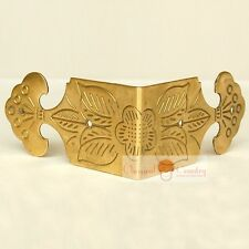 4pcs Corner Plate Chinese Furniture Hardware Brass for Cabinet Trunk Deco Edging
