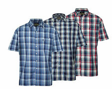 Pack of 3 Mens Champion Country Style Casual Check Short Sleeved Shirt 3038