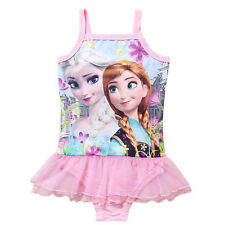 2015 HOT Kids Elsa Anna Swimwear Cloth Girls Frozen Princess Swimsuit Bathing