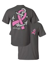 Southern Couture Hope Anchors Breast Cancer Pink Ribbon Awareness Girlie T-Shirt