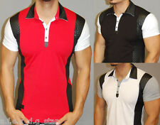 A.F.E.X D.G RR&J STAR CASUAL POLO MUSCLE SLIM FIT BODY FITTED TOP T SHIRT V AA3