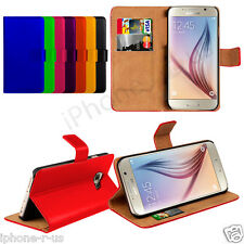 8 Colour Leather Stand Wallet Flip Phone Case Cover For Samsung Galaxy S6