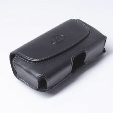 Premium Leather Phone Holster Side Clip with Double Belt Loops Cover Pouch Case