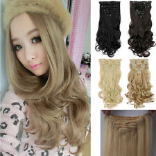 100% Best 8pcs 18clips Hair Extensions Full Head Set Ladies Womens Hairpiece FF8