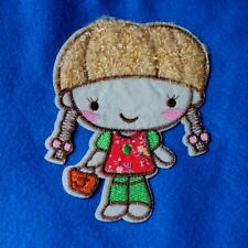 Bronze Cute Girl Cute Iron on Sew Patch Applique Badge Embroidered Baby
