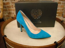 Vince Camuto Harty Mermaid Blue Suede Pointed Toe Pumps SALE