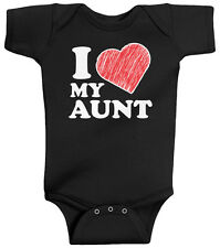 Threadrock Baby I Love My Aunt Infant Bodysuit Heart Family Auntie Cute