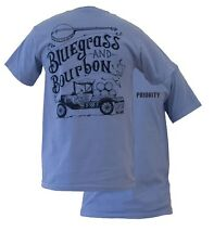 New Southern Couture High Priority Bluegrass & Bourbon Unisex Bright T Shirt
