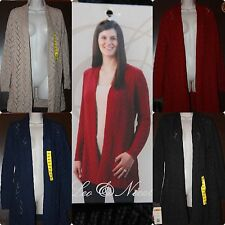 *NWT*  Leo & Nicole Loose Knit Sweater Open Front-Cardigan