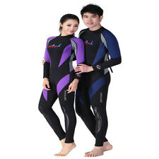 1.5mm Male Full Scuba Snorkeling Wet Suit Warm Diving Jump Suit Black & Blue HGT
